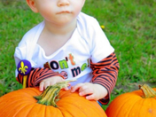 9 month old Weston Fontenot from Luling, LAwith his first pumpkin