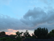 cloudy sunset evening