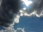 Looks like rain coming to Folsom. Sum trying to burn it off.....Barbara Lee