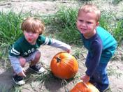 Colston & Mason pick out their jack o lantern