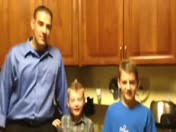 When my boys found out I bought tickets to Saints game for them :) who Dat!!