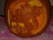 Sir Saint Pumpkin unlit