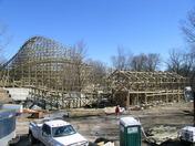 Prowler Roller Coaster Construction