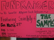 Fundraiser- This Sunday! Featuring Sean Kelly of THE SAMPLES.