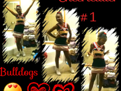 Cheerleader for the bulldogs