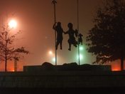 Fog in downtown Olathe