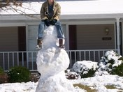 sitting on the snowman