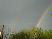 Double rainbow after the 2nd shower 5/4/2011
