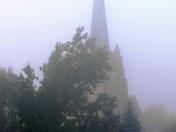 Church Steeple in the Fog