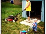 Helping Daddy with Yard Work!