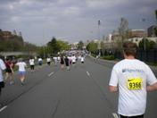 Trolley Run toward the finish line