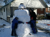 big snow man