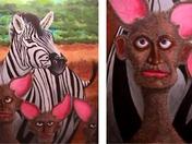 Mandogs with their Wild Zebra