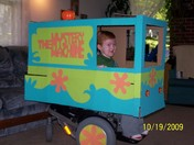 Shaggy in the Mystery Machine Van