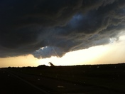 Just outside of Lebo 7:55 pm