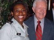 President Carter and Major ReGina Davis