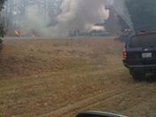 Burning truck on 495 S near Chelmsford
