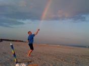 Derek catches a rainbow!