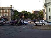 Boston Cruiser and pickup truck collide