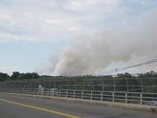 Mulch Fire in Peabody