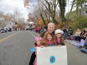 Thanksgiving Parade w/ the girls and Randy Price