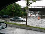 cars stuck in flash flood 6 6 2010 framingham rt 9