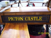 woodwork on deck of the picton castle