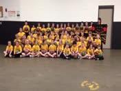 3rd Grade Bresnahan School TOT basketball skills demo team