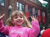 3 year old Lily,outside Fenway