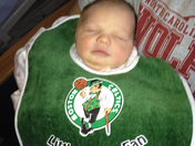 Our new grand-daughter Hanna Leigh - 2 days old - our littlest Celtics fan!