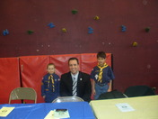 the cubscouts blue and gold ceromony