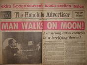 Honolulu Advertiser Moon Landing