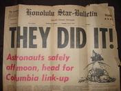 Honolulu Star Bulletin Moon Landing