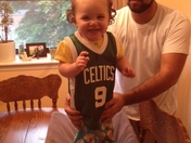Baby Emerson is Rondo's number one fan
