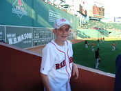 Zakary at one of many Red Sox games