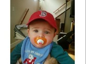Logan loves his Red Sox hat