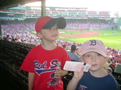 Thomas and Adele's 1st Red Sox Game