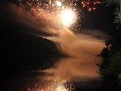 River Reflection_Fireworks over Pittsifeld NH