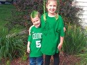 MacKenzie and Shawn Go Celtics