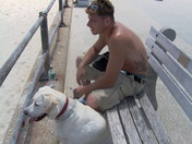 my best friends at the beach