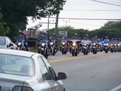 Motorcycle  police officers from all over join in to honor Nicholas Xiarhos