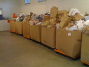 USPS Food Drive.  Success!