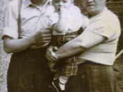 dad, me and my granny