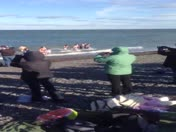 Egypt Beach Scituate. Polar Plunge