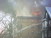 Fire at Mysticside Apartments in Malden, 1-9-2010