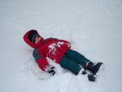 Evan making a snow angel! Seaman, Ohio