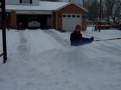 Jeremy enjoying a snow day!!
