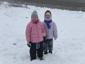 Clarissa and Carrie in the Snow
