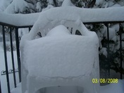 deep snow in untouched chair