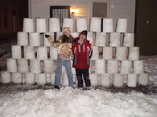 snow wall sculpture